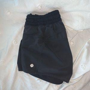 black, athletic lululemon shorts